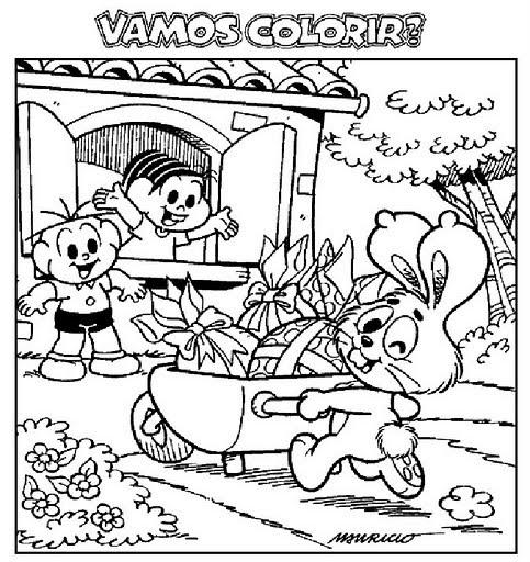 Desenhos De Pascoa Da Turma Da Monica Para Colorir