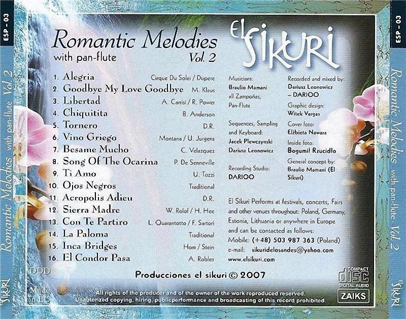 ENTRE MUSICA: EL SIKURI - Romantic Melodies with pan-flute Vol. 2