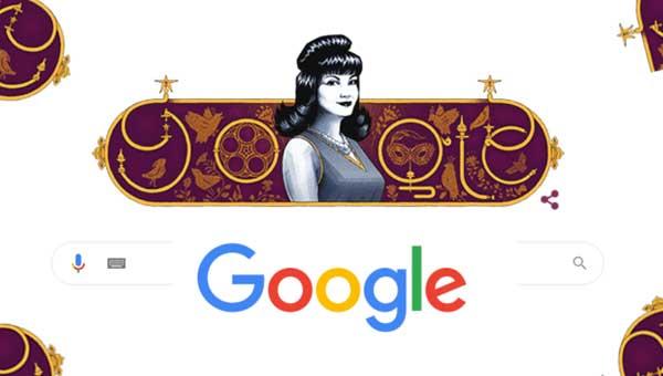 شادية جوجل يحتفل بذكرى ميلاد الفنانة شادية  الـ 90 والاسم الحقيقي فاطمة أحمد