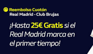 william hill Reembolso Real Madrid vs Brujas 1-10-2019