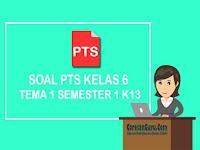 Soal PTS Kelas 6 tema 1 Semester 1 Kurikulum 2013 dan Kunci Jawaban