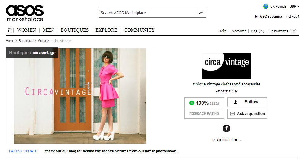 New! Shortened Boutique URL's   Blog   Seller Blog   ASOS