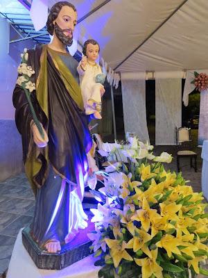Imagens da missa de abertura da festa em honra a São José em Almino Afonso - RN