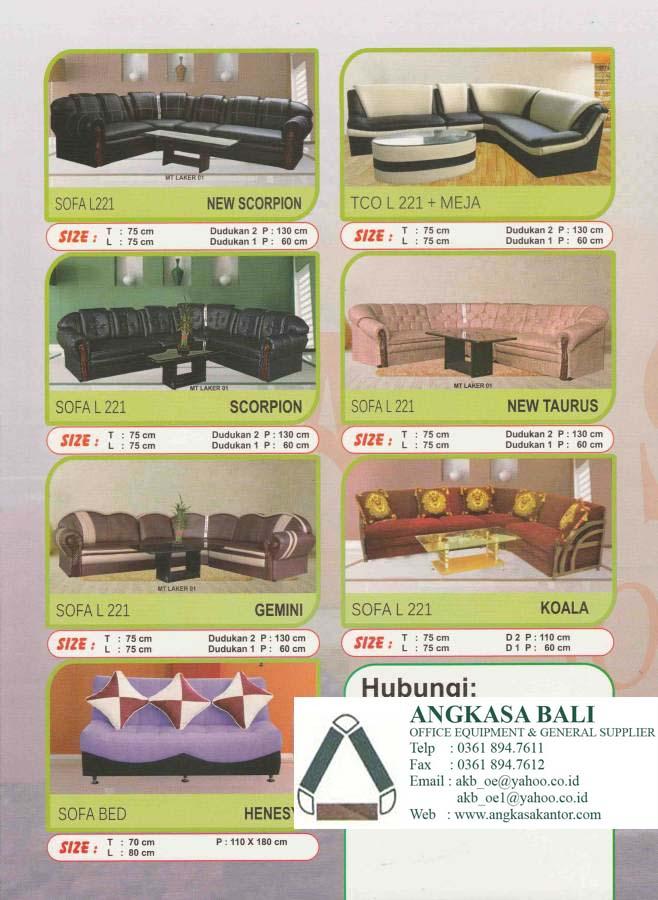 Jual sofa minimlasi di bali angkasa bali di bali toko for Sofa bed yang bagus merk apa