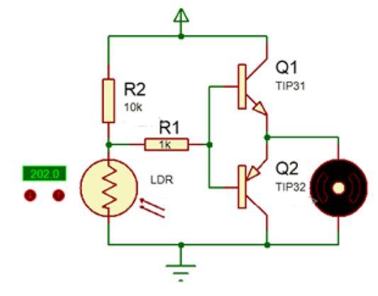 Implementasi Sensor LDR dengan Motor DC