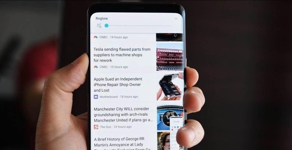 Samsung Galaxy S9 Screenshot - volume down + power button