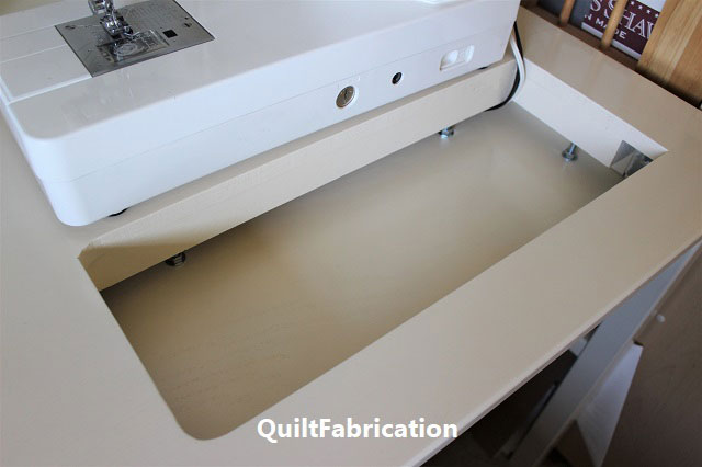 Ikea Ingo table showing sewing machine ledge