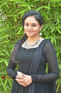 Actress Kala Kalyani Stills in Black Salwar Kameez at Engeyum Naan Iruppen Audio Launch  0008.jpg