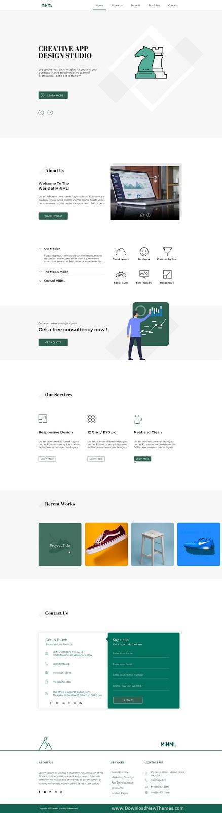 Clean & Flat PSD Template