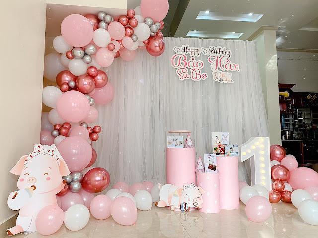 trang trí sinh nhật bé gái tại nhà