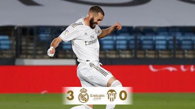 ملخص واهداف مباراة ريال مدريد وفالنسيا (3-0) في الدوري الاسباني