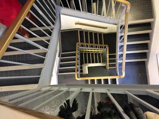 about 183 steps to the Carillon keyboard room