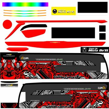 Livery JB3+ SDD MD Creation Electrical Red