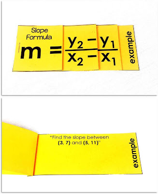 Linear Equations Foldables - print and digital