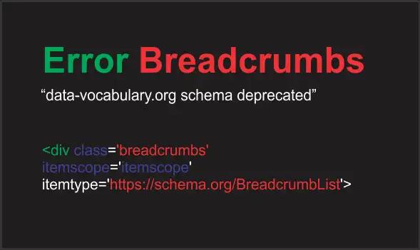 Cara Mengatasi Error Breadcrumbs