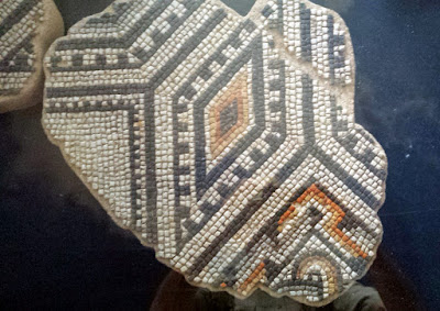 Amazing 5 colors mosaic floor from a provate building in Bavay, 2nd century AD