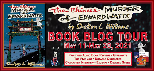 The Chinese Murder of Edward Watts book blog tour promotion banner