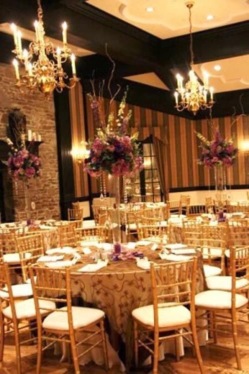 2014 Beautiful Gold Wedding Decorations