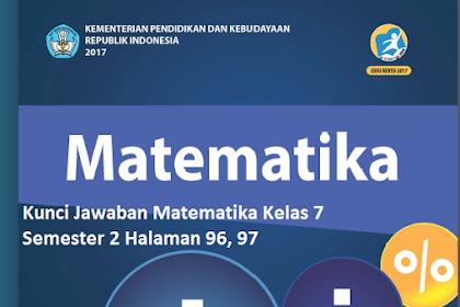 Kunci Jawaban Uji Kompetensi 6  Matematika Kelas 7 Semester 2 Halaman 96, 97