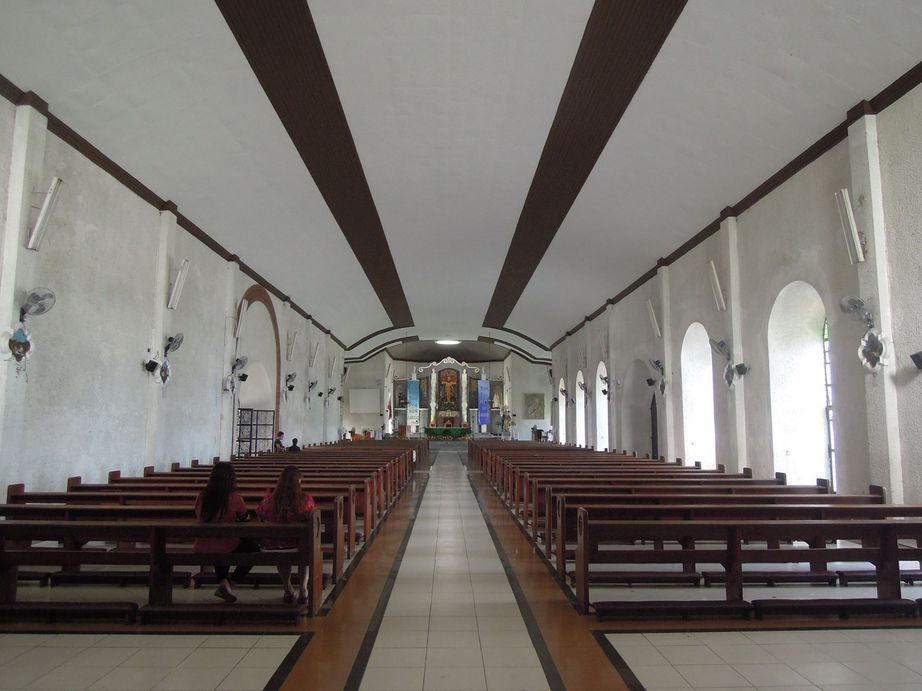 Aisle and pews inside Daraga Church
