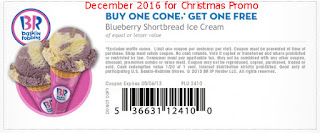 Baskin Robbins coupons for december 2016
