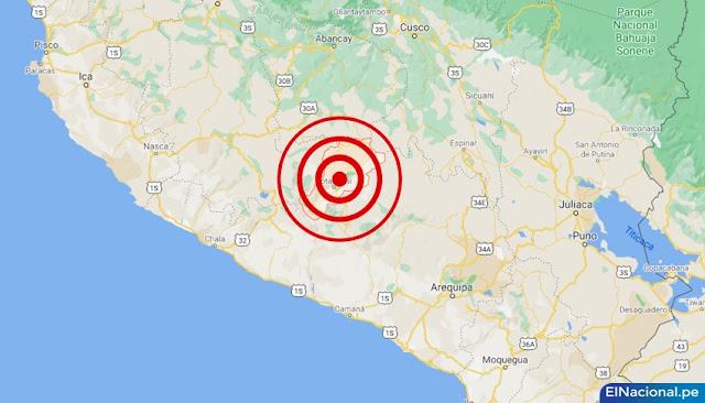 Temblor de magnitud 4.3 se registró en Arequipa