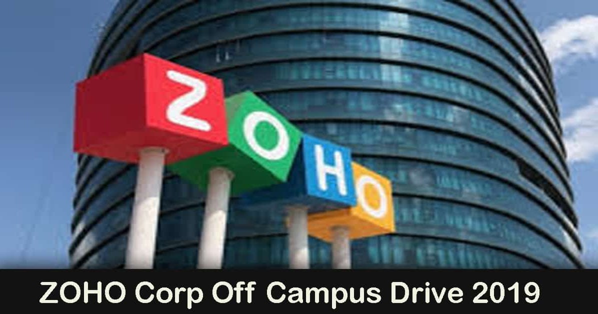Zoho Off Campus Drive 2019 Freshers Be B Tech