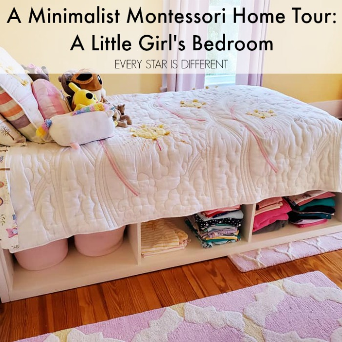 A Minimalist Montessori Home Tour: A Little Girl's Room