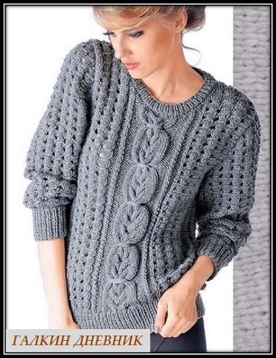 jenskii-pulover-spicami | vyazanie | toxuculuq | knitting | حياكة | vyazanne | pletivo