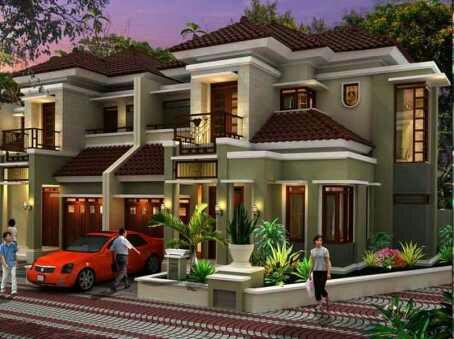 contoh bangunan rumah minimalis mewah 2 lantai terbaru