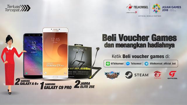 Telkomsel - Promo Hadiah Beli Voucher Games