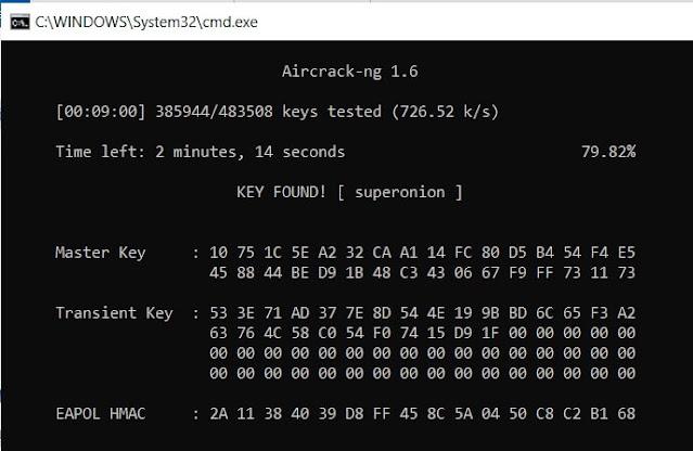 Aircrack-ng password found