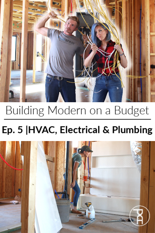 how to HVAC electrical plumbing DIY modern house build construction