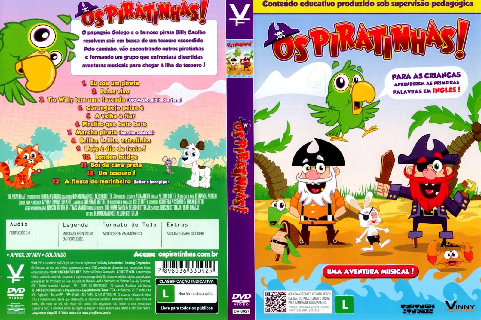 dvd os piratinhas