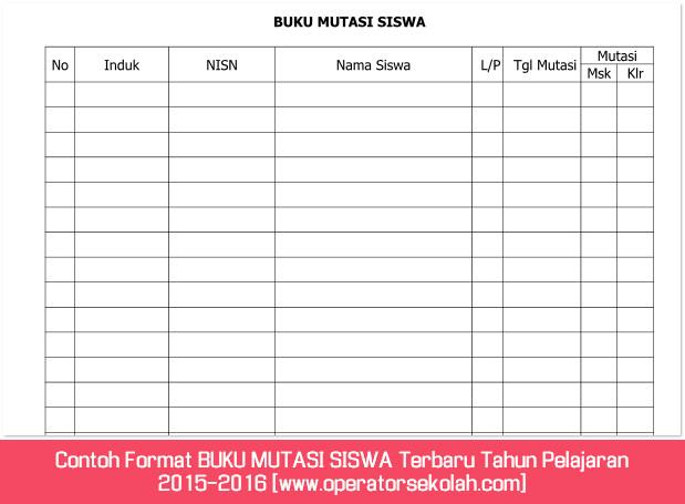 Contoh Format BUKU MUTASI SISWA Terbaru Tahun Pelajaran 2015-2016 [www.operatorsekolah.com]