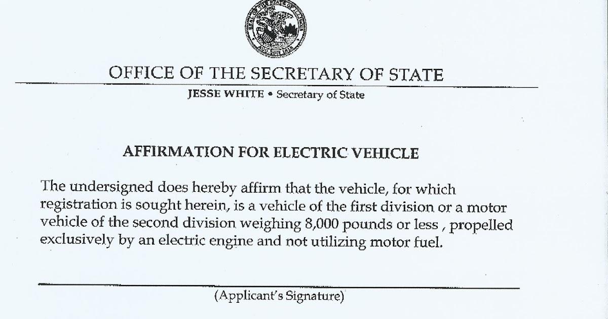image regarding Vsd 190 Printable Form identified as Fresh 2012 Mitsubishi iMiEV: ILLINOIS Electrical Automobile PLATES