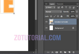 Tutorial Membuat Double Garis Outline di Photoshop (Garis Ganda) Tulisan - Layer
