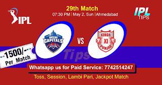 IPL T20 Delhi vs Punjab 29th Match Who will win Today? Cricfrog