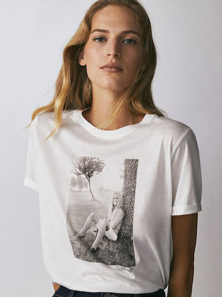 camiseta mujer Masssimo Dutti Brigitte Bardot