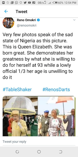 Reno Omokri Had To Apologize To Saraki's Wife After Tweeting This