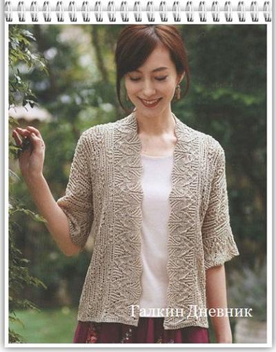 ajurnii-jaket-spicami | knitting-jacket | jaket-spicyami | jaket-prutkamі