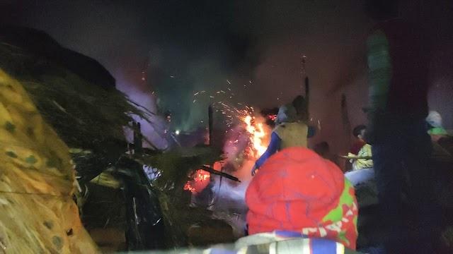 गम्हरिया में बिजली के शॉट सर्किट से घर में लगी आग, जलकर मासूम की मौत