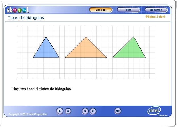 """""""Tipos de triángulos según sus lados"""" (Aplicación interactiva de Geometría de Primaria)"""