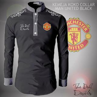 Koko Kemeja Collar Manchester United MU Murah