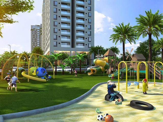 Khuôn viên dành cho trẻ em tại Đồng Phát Park View
