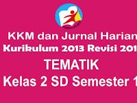 KKM dan Jurnal Harian Tematik Kelas 2 SD Kurikulum 2013 Revisi 2017