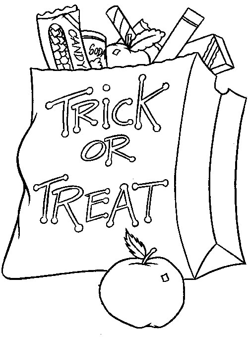 Halloween 2017 trick or treat coloring pages printable for for Halloween pictures to colour in