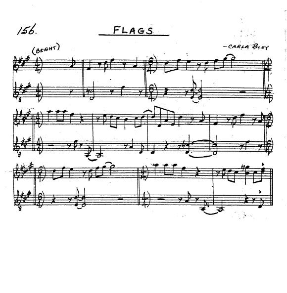 Partitura Saxofón Carla Bley
