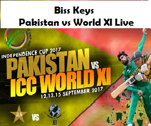 Biss Keys for Pakistan vs World XI Live