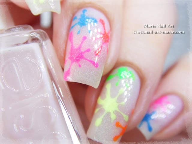Nail Art Tâches Fluo Holographiques6